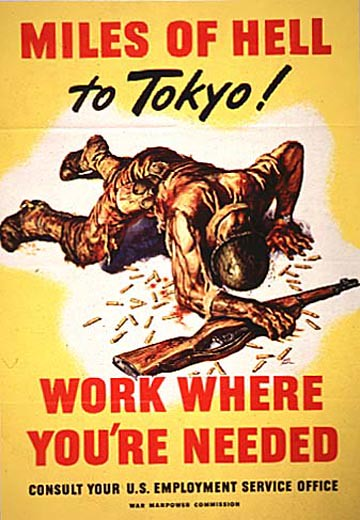 World War II Poster - Miles Of Hell To Tokyo!