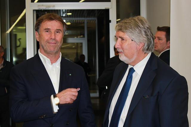 Brunello Cucinelli e il Ministro Giuliano Poletti
