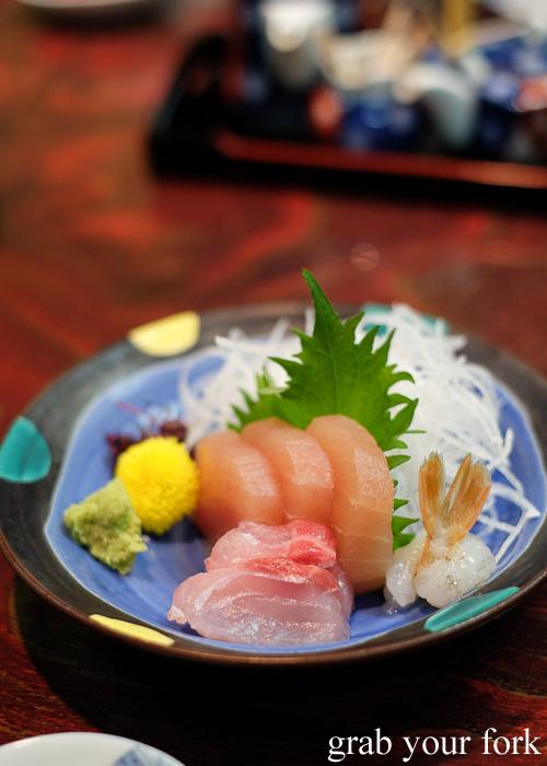 Sashimi plate at Nakayasu Ryokan, Kanazawa