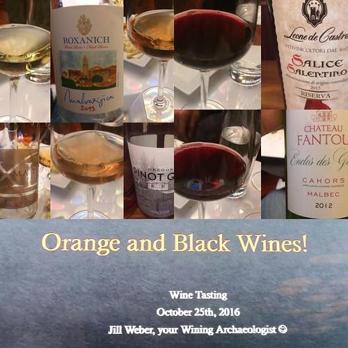 Orange and Black wine tasting at Jet Wine Bar