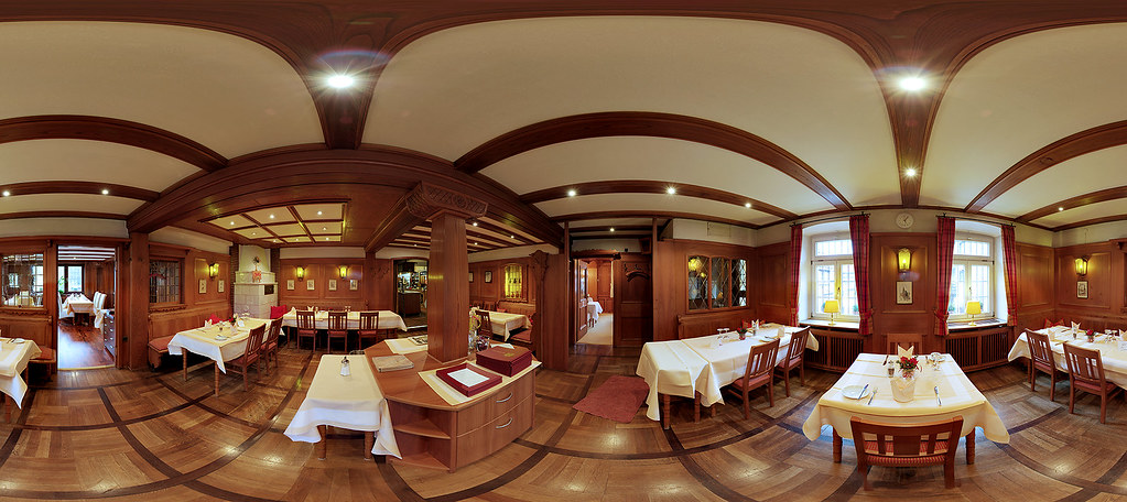 Restaurant interior panorama session hdr the equi