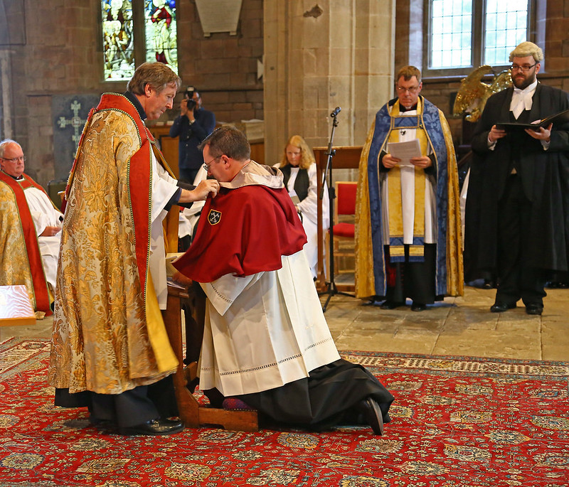 Installation of the Canon Precentor of St Asaph Cathedral & Team