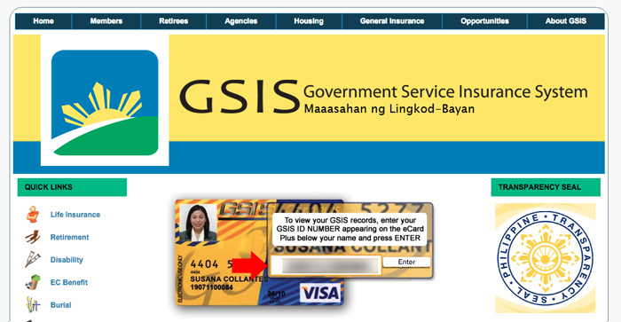Check GSIS Online