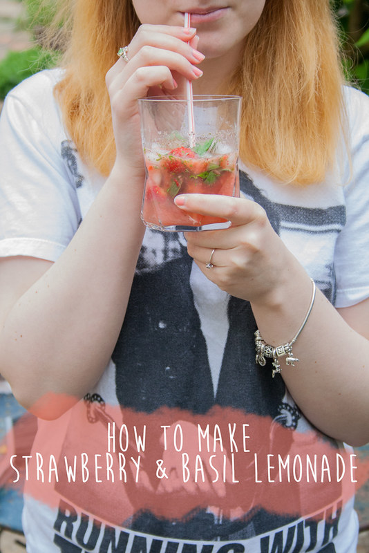 How to make strawberry basil lemonade
