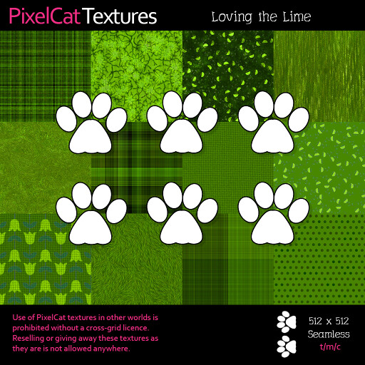 PixelCat Textures - Loving the Lime