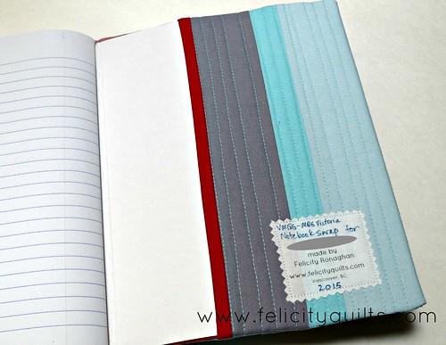 Notebook for swap inside back