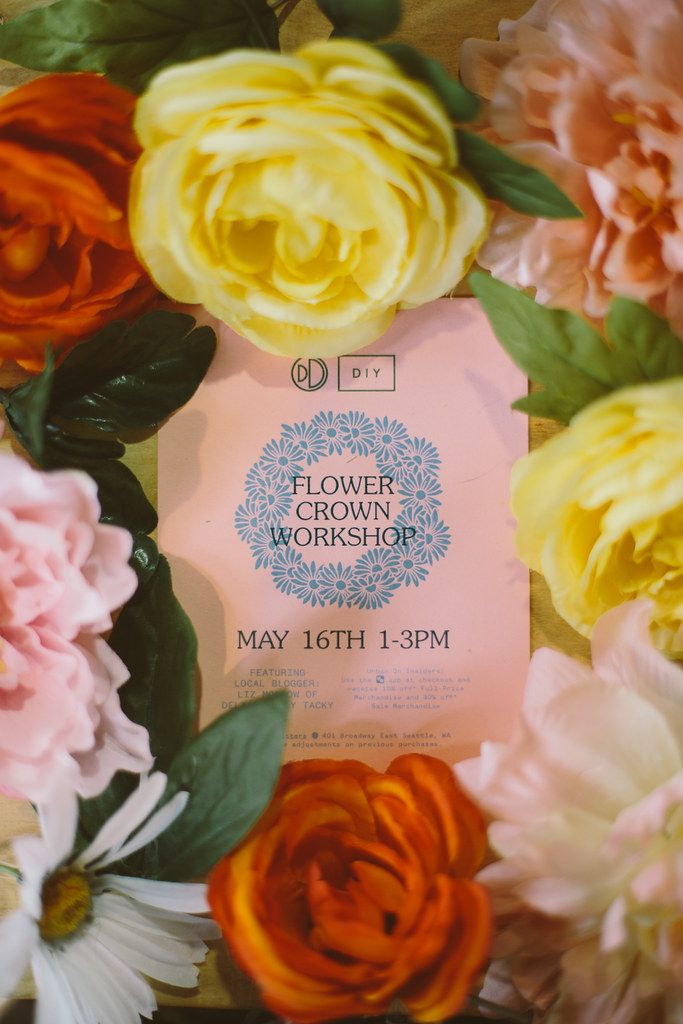 seattle flower crown workshop