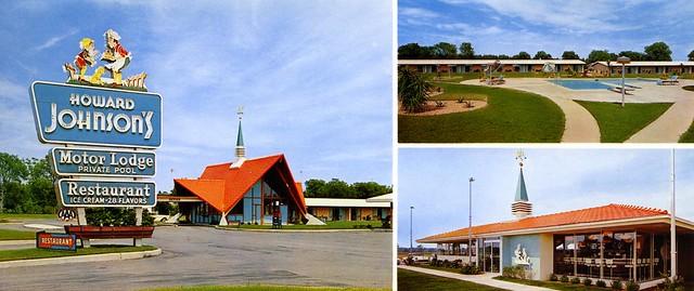 Howard Johnson's Motor Lodge and Restaurant - Tifton, Georgia U.S.A. - 1950s