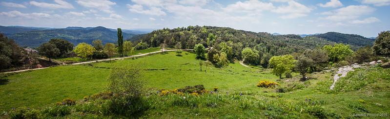 Panorámica del Pla de Les Collades desde el Perotet