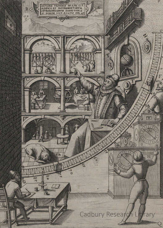 Tycho brahe in his island observatory cadbury research li for Mural quadrant