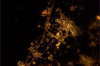 Amsterdam and surroundings by night | by europeanspaceagency