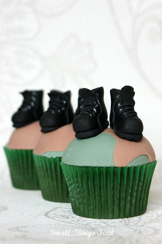 Army Boots Cupcakes | by SmallThingsIced