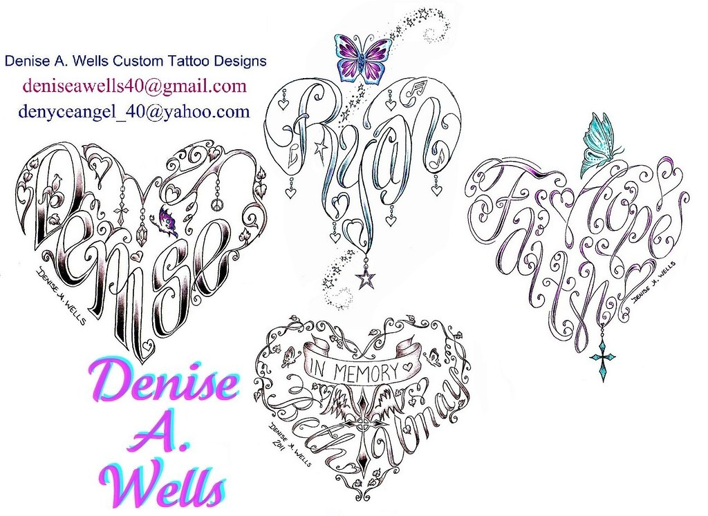 heart tattoos by denise a wells a variety of heart tattoo flickr. Black Bedroom Furniture Sets. Home Design Ideas