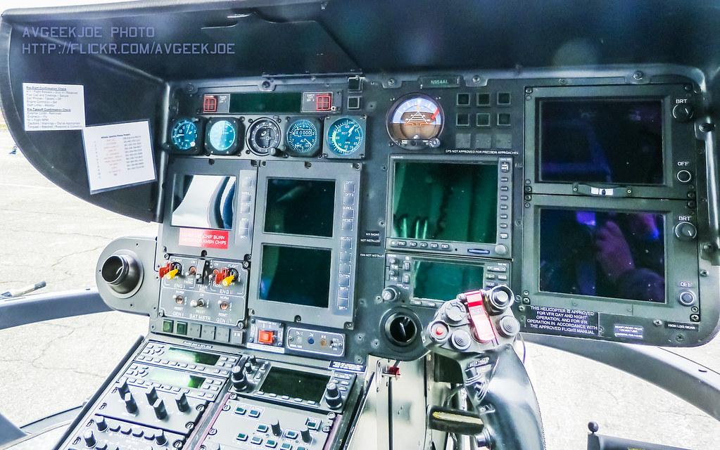Ec-135 Looking Across The ec 135 Cockpit