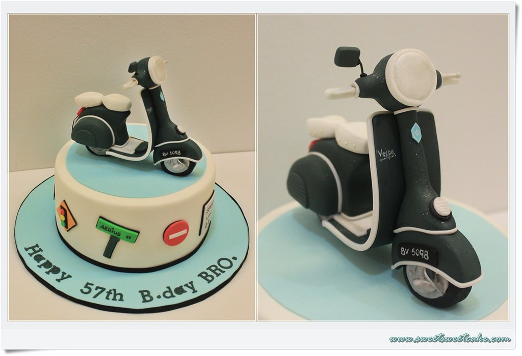 Vespa Scooter Themed Cake Thanks Sweetsweet Jaslyn For