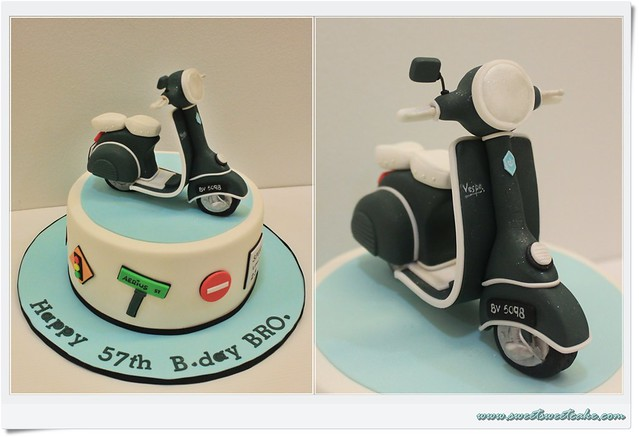Scooter Birthday Cake Toppers