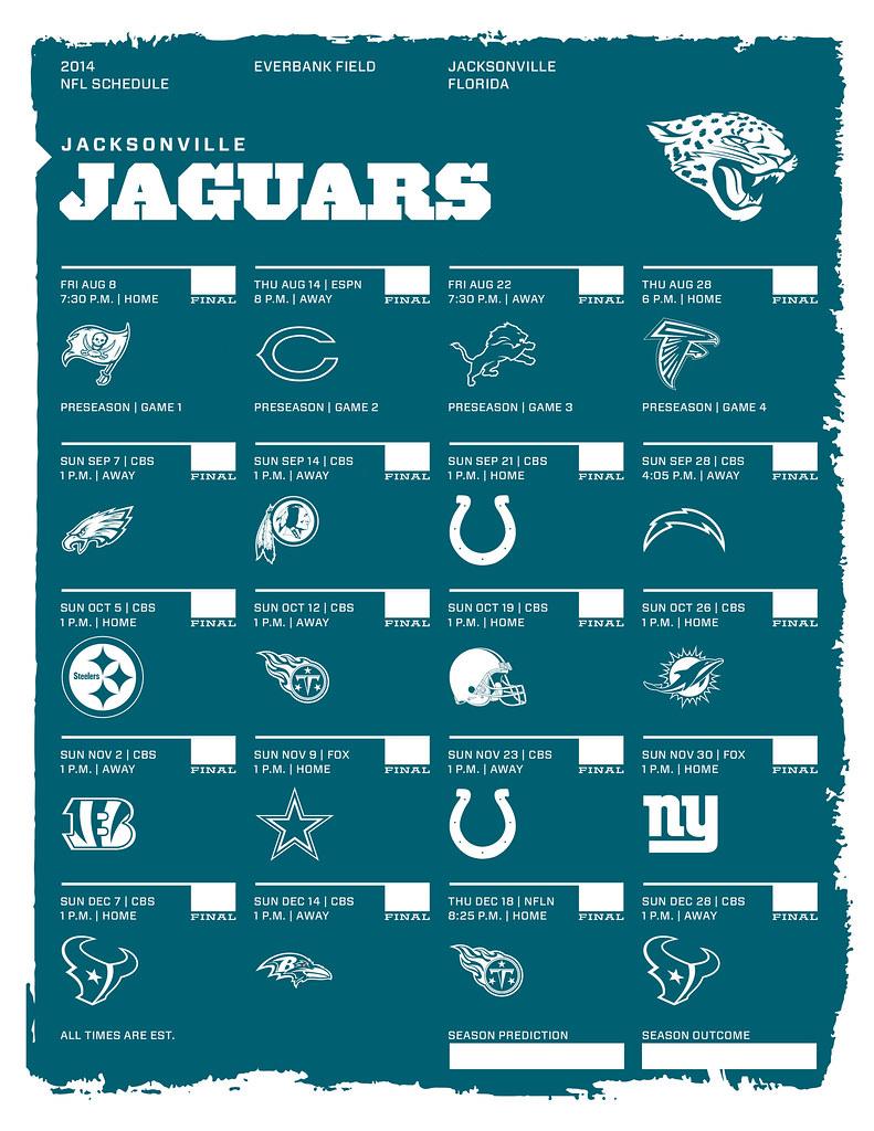 jacksonville jaguars 2014 nfl schedule kishcollageit flickr. Cars Review. Best American Auto & Cars Review