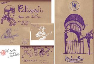 Malaga Carnet chinois - Malagrafica logo - Emily Nudd-Mitchell