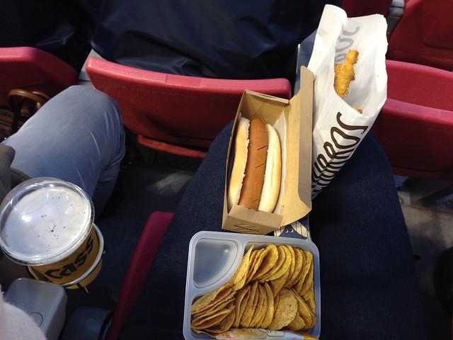 Baseball food. Yes, churros!