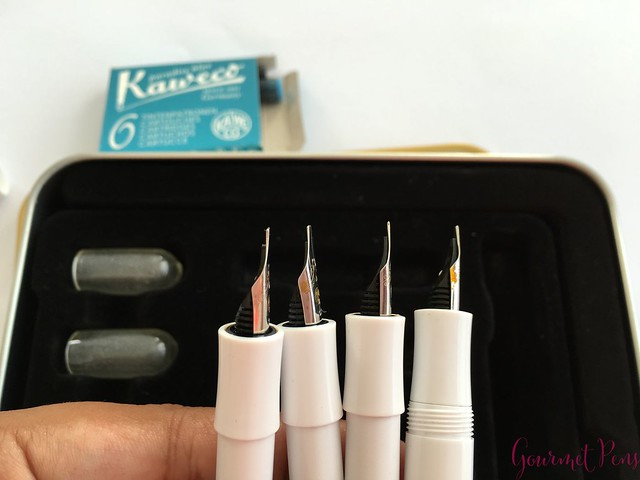Video Review Kaweco Calligraphy Set - White @JetPens 9