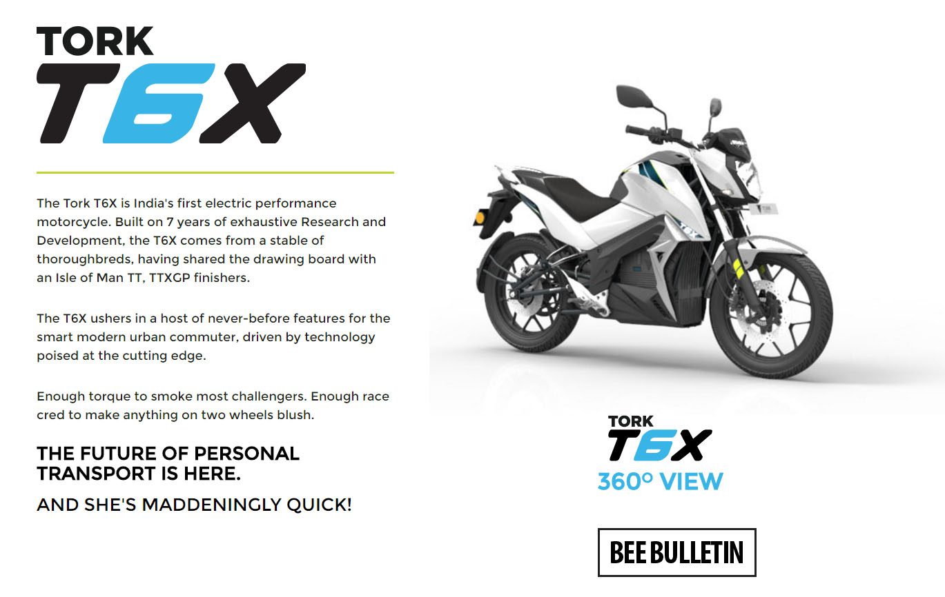 6 Things You Should Know About Tork T6x All Electric Bike