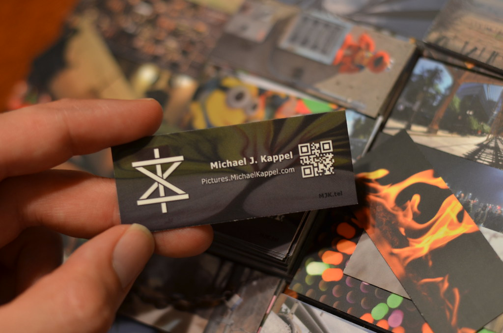 Artist Business Cards Michael J Kappel Mini Photo