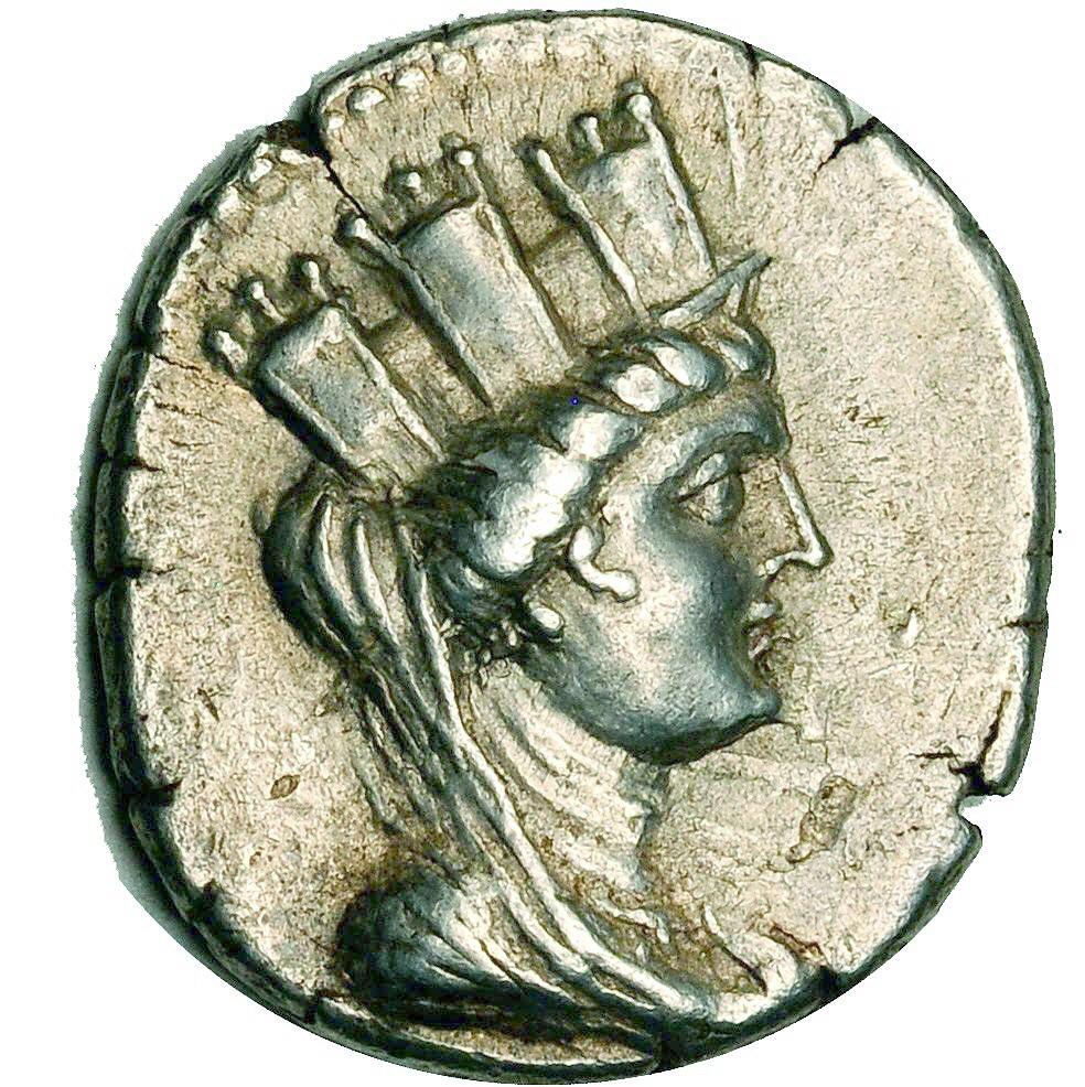Aradus Ar Tetradrachm Tyche Phoenicia Aradus Syria