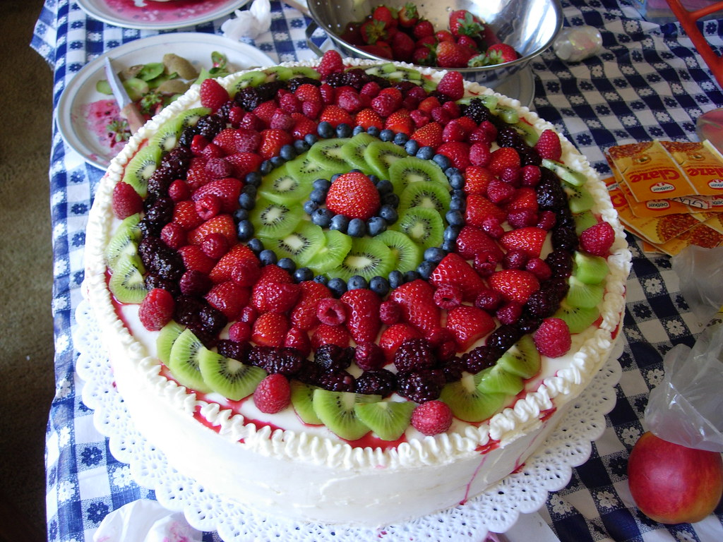 Fresh Fruit Cake Images