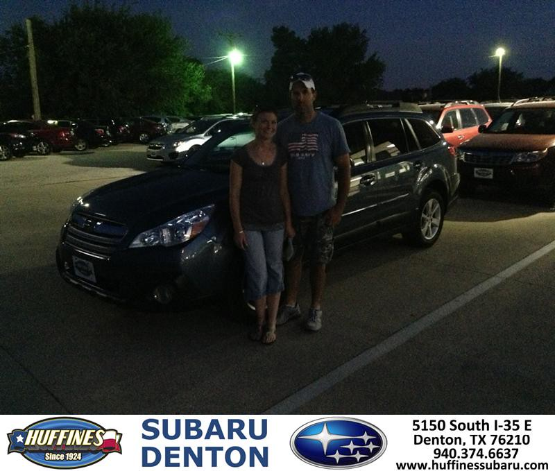 Thank You To Clayton Craig On The 2013 Subaru Outback From