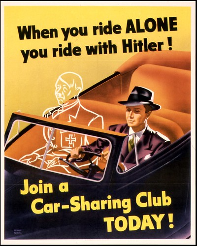 Car-Sharing Club Poster by Weimer Pursell (1943), US Government Printing Office