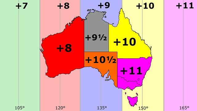 Australia time zones summer dst flickr photo sharing for Gardening zones australia