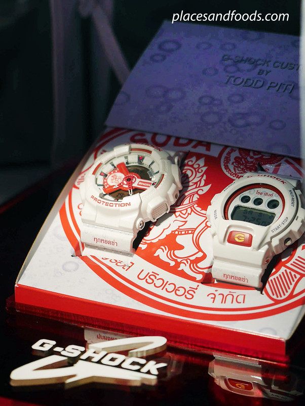 casio gshock red with box