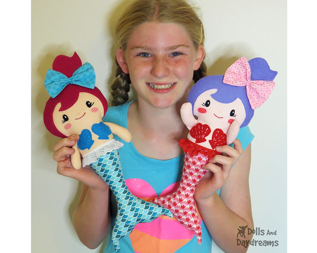 Mermaid Doll sewing pattern