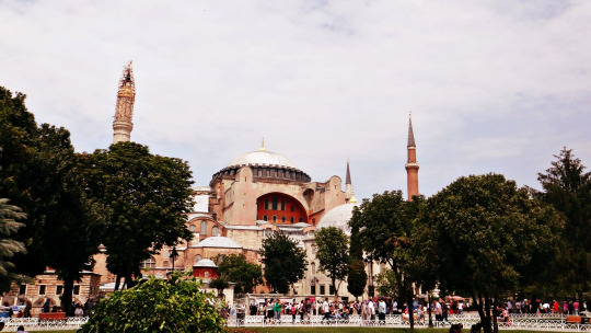 From the outside of Hagia Sophia. Another breakthrough scenery!