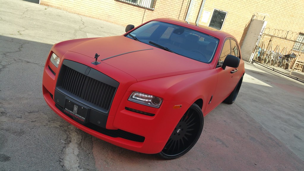 Project Rolls Royce Ghost By Dbx Wrapped In 3m Matte Red