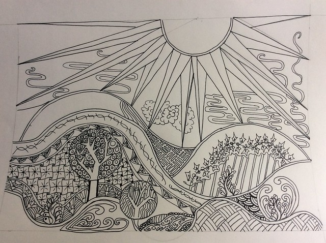 Zentangle landscapes