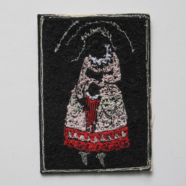 storyteller - miniature embroidery portrait (other side)