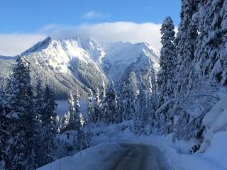 SR 542 Snow & Blue Skies.