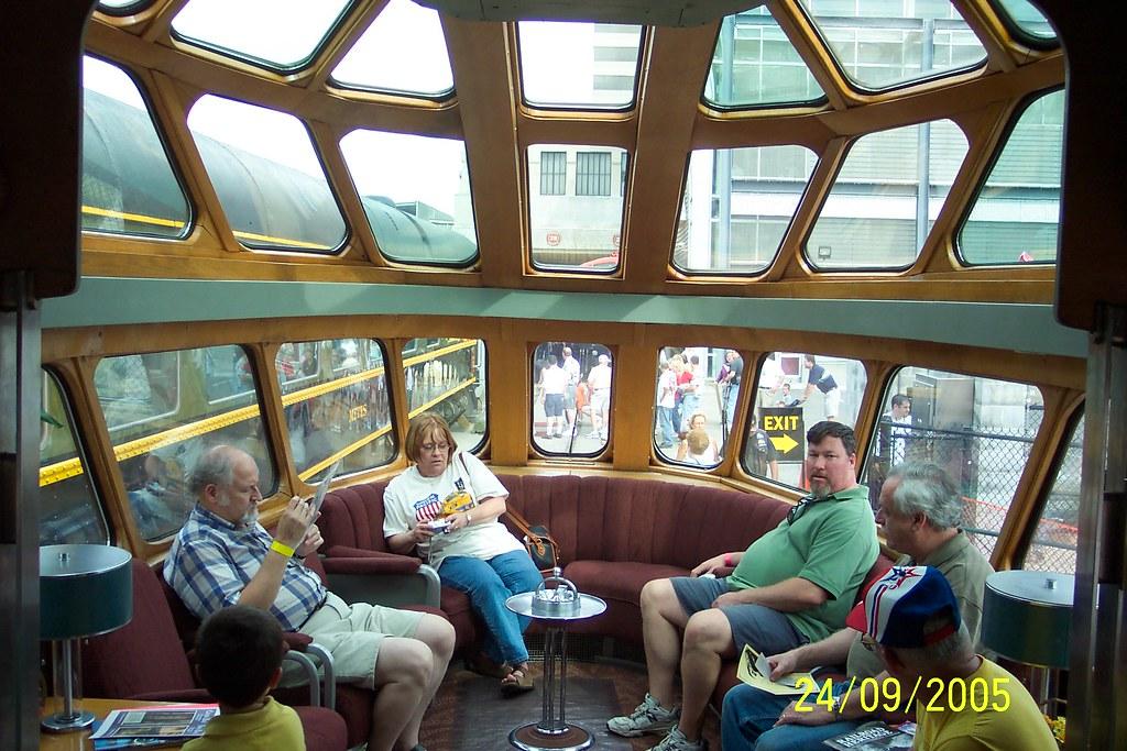 Milwaukee Road Hiawatha Skytop Observation Lounge Car Kan