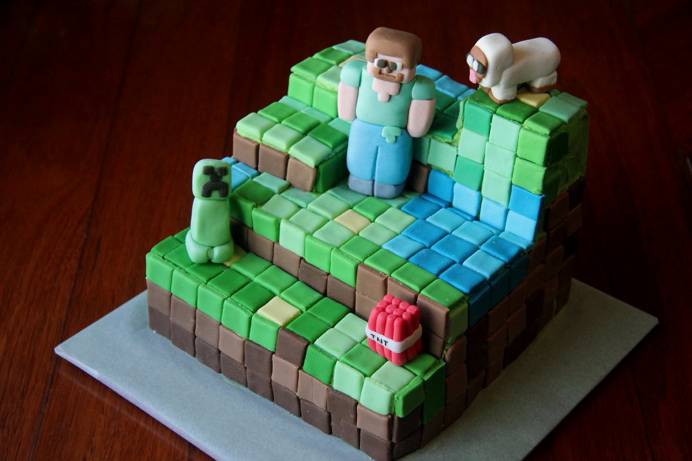 Minecraft Cake Ideas With M Amp