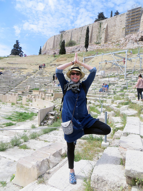 yoga poses in public places acropolis