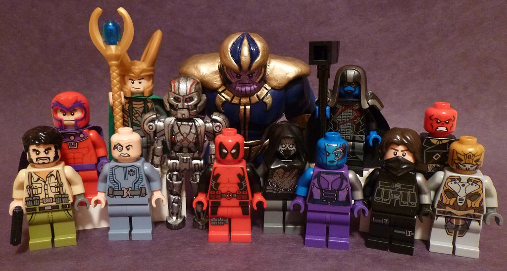 lego marvel villains a group shot of all of my villains