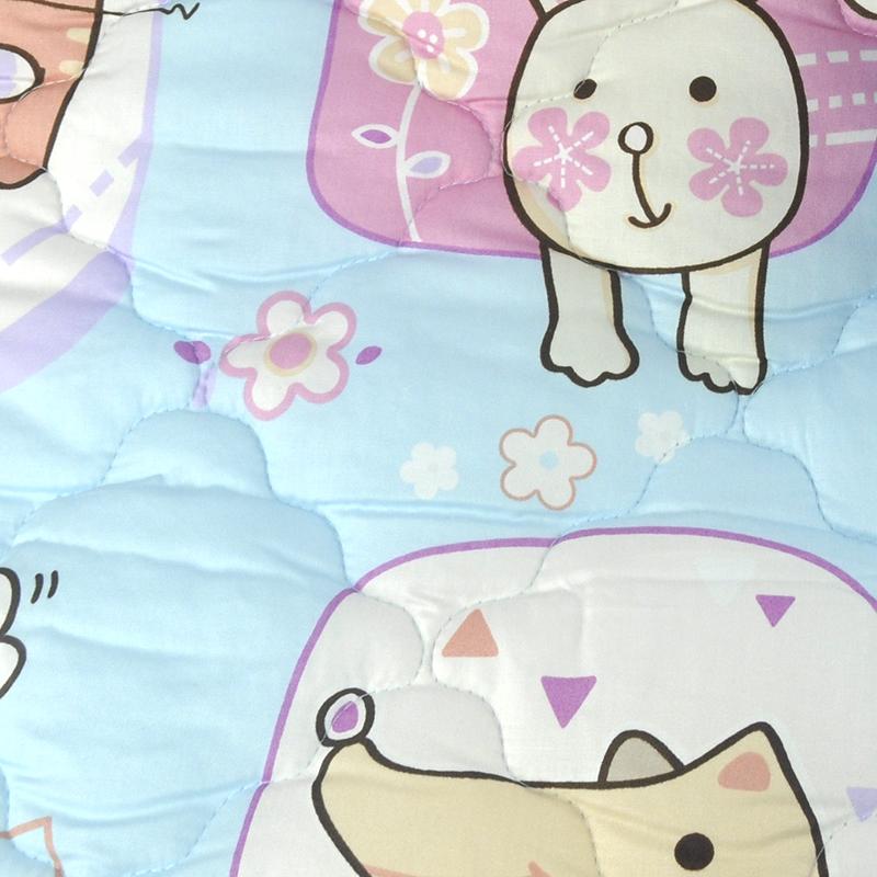 【限宅配】卡通动物方块 淘气宠物 猫狗 精梳棉铺棉床