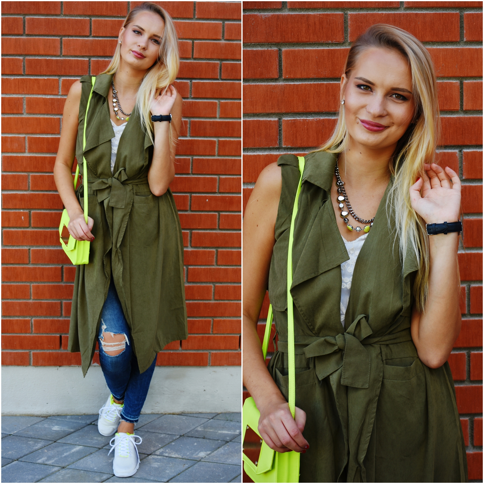 Green vest outfit