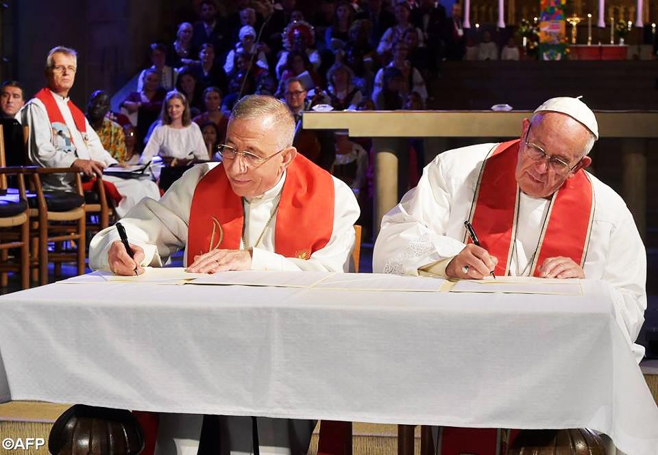 Tuyên Ngôn Chung Giữa Công Giáo Và Tin Lành Luther Dịp Kỷ Niệm 500 Năm Cuộc Cải Cách Tin Lành