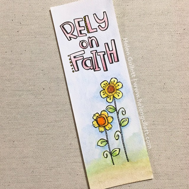 Day 4 of 30 Day Coloring Challenge - Rely On Faith