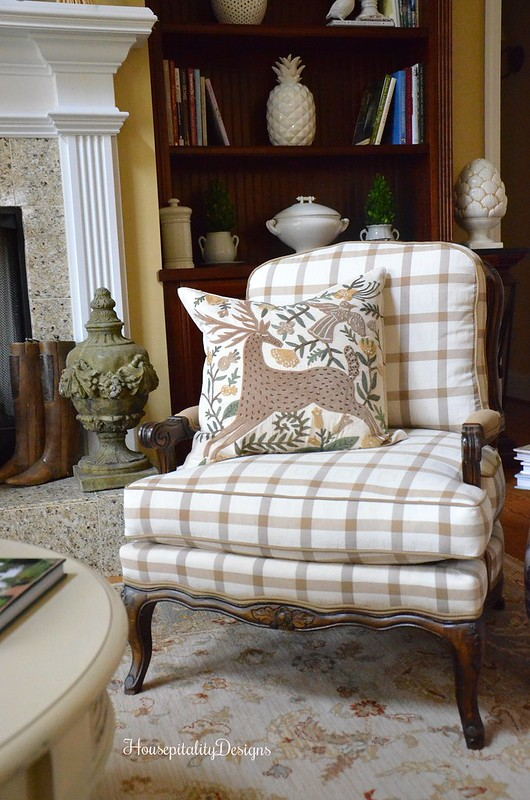 Great Room Chair - Pottery Barn Holiday Pillow - Housepitality Designs