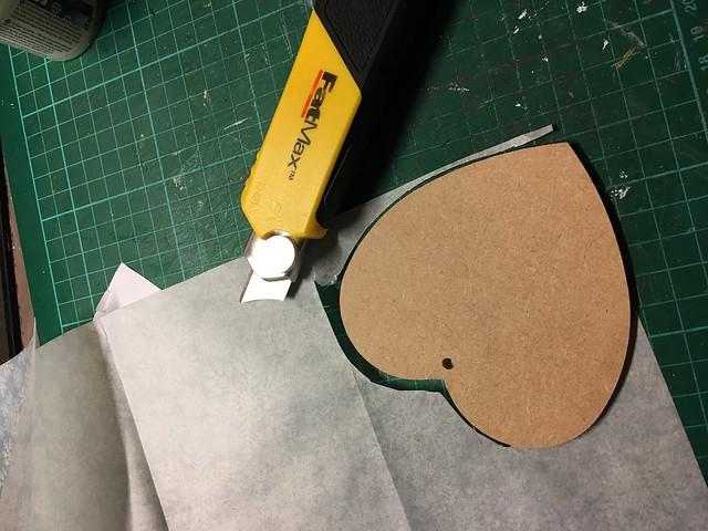 Handmade Christmas Decoration – Decoupaged Heart by StickerKitten. Step 5: Cut out