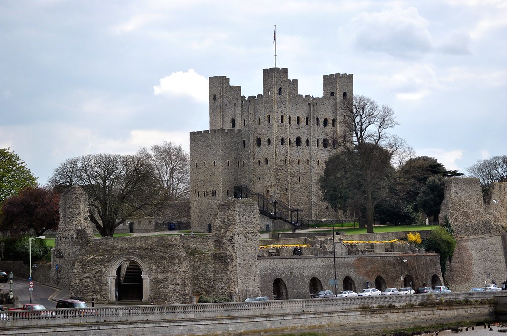 Rochester Castle Kent Strategically Placed Astride The