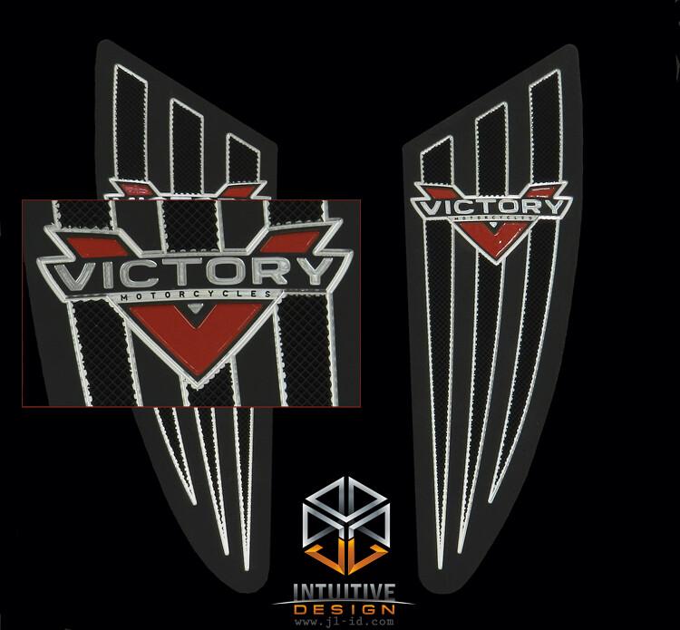 Victory Vision Motorcycle Floorboards. Custom designed, m ...